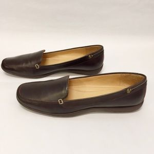 Coach brown leather flats